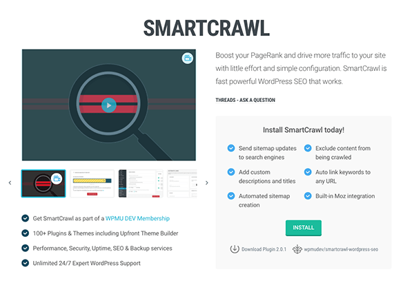 SmartCrawl SEO plugin