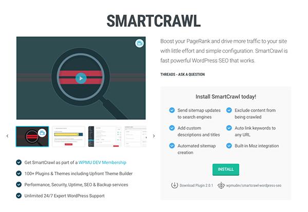 SmartCrawl SEO plugin