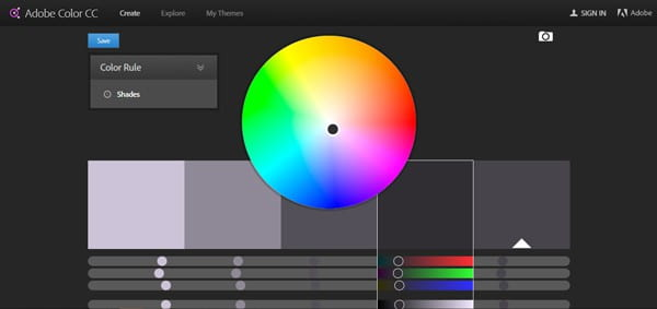 Adobe Kuler color picking tool