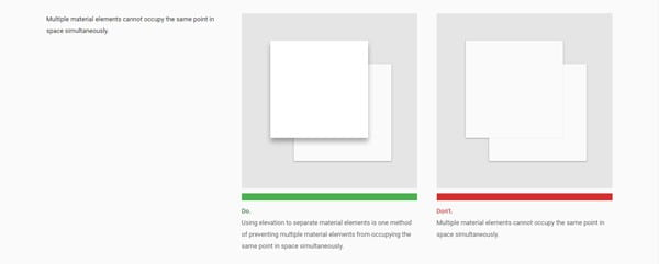 Material Design's Do's and Don'ts