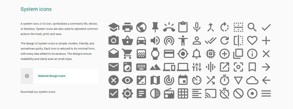 Google provides guidelines for Material Design icons