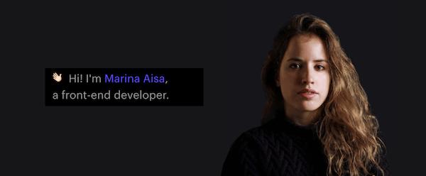 Create a Portfolio - Marina Aisa
