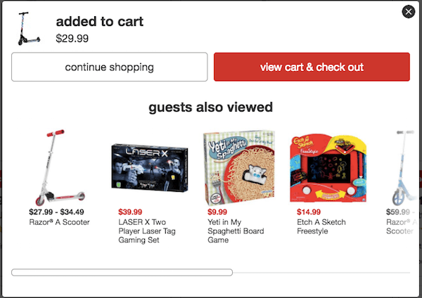 Pop-up Anatomy - Target Recommendations Pop-up