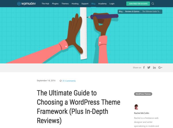 WordPress theme framework - ultimate guide on wpmu dev