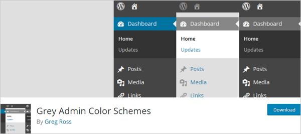 Grey Admin Color Schemes