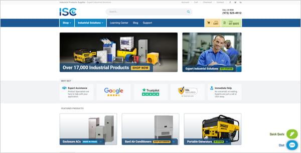 ISCsales.com website