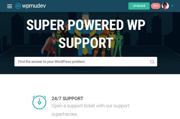 WPMU DEV's support page