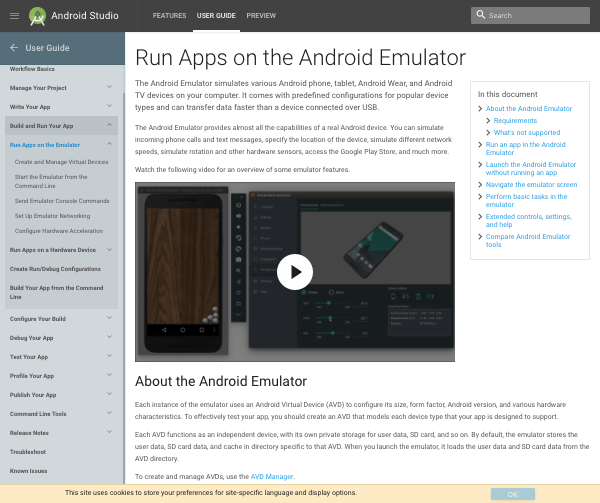 Android emulator website
