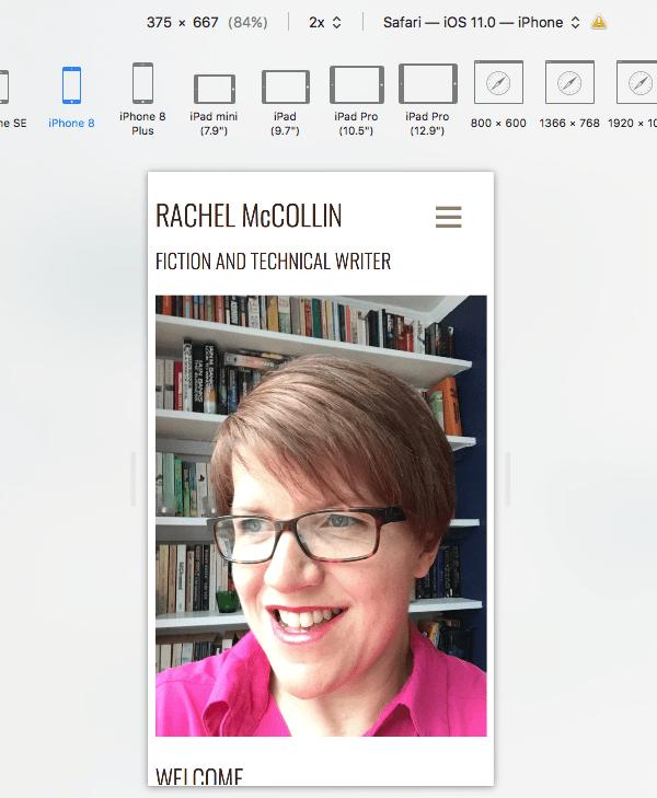 Apple Safari Responsive Design Mode