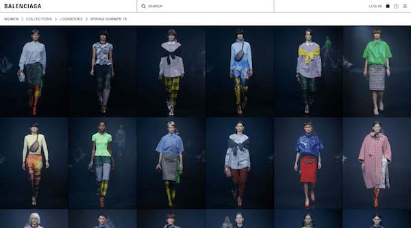 Brutalist Web Design - Balenciaga Images
