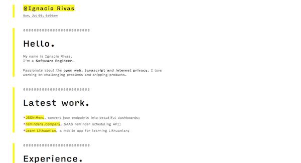 Brutalist Web Design - Ignacio Rivas