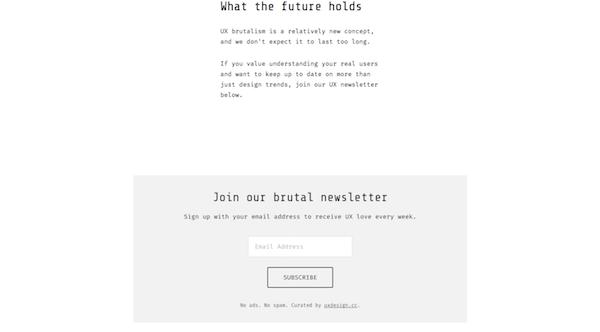 Brutalist Web Design - UX Brutalism