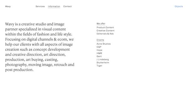 Brutalist Web Design - Wavy Studio