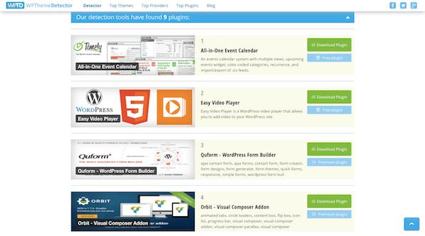 WordPress Themes and Plugins - WPThemeDetector Plugin Analysis