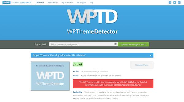 WordPress Themes and Plugins - WPThemeDetector Theme Analysis