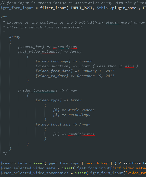 search-form-input-using-arrays
