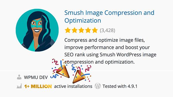 1 million active Smush installs
