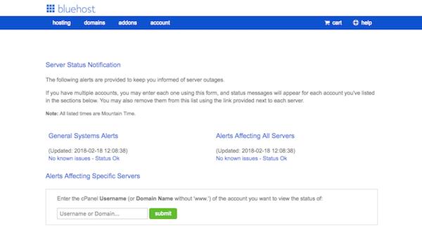 Server issues - Server Status