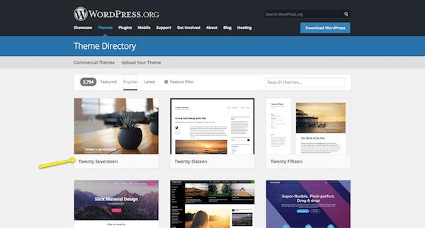 WordPress.org free theme directory.