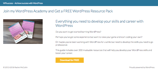 Example landing page - no links except the signup button