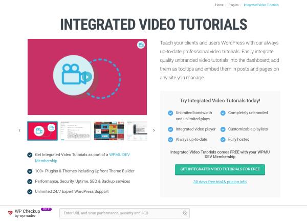 video tutorials plugin on wpmu dev site
