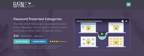Password Protect - Password Protected Categories Plugin