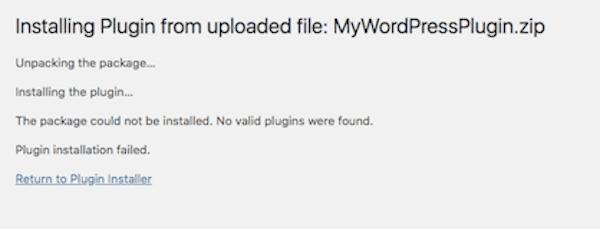 Plugin or Theme Won't Install - Zip Missing Files