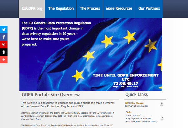 GDPR portal