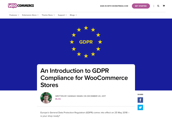 WooCommerce guide to GDPR