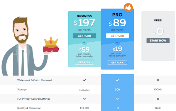 Conversion Rate Optimization - PowToon Pricing Page Original