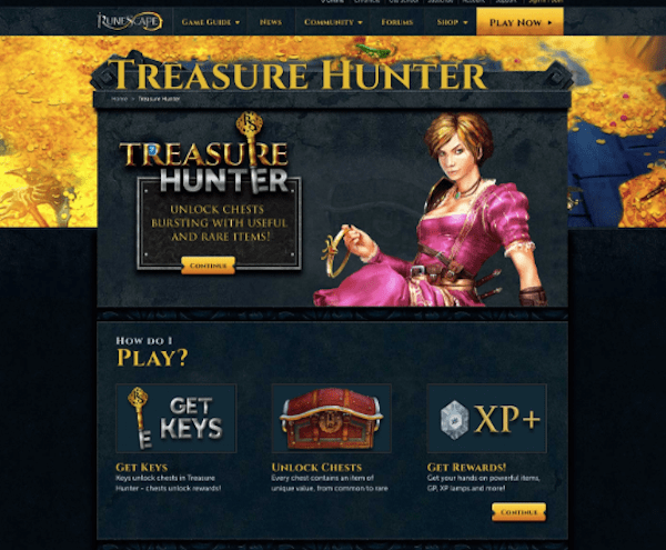 Conversion Rate Optimization - Treasure Hunter Page Original