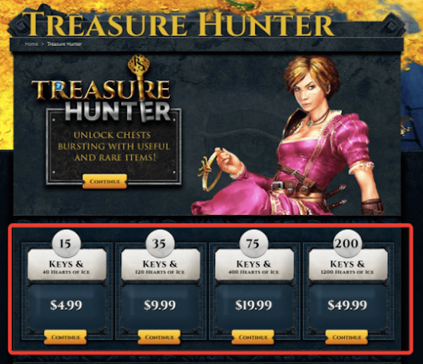 Conversion Rate Optimization - Treasure Hunter Page Updated 1