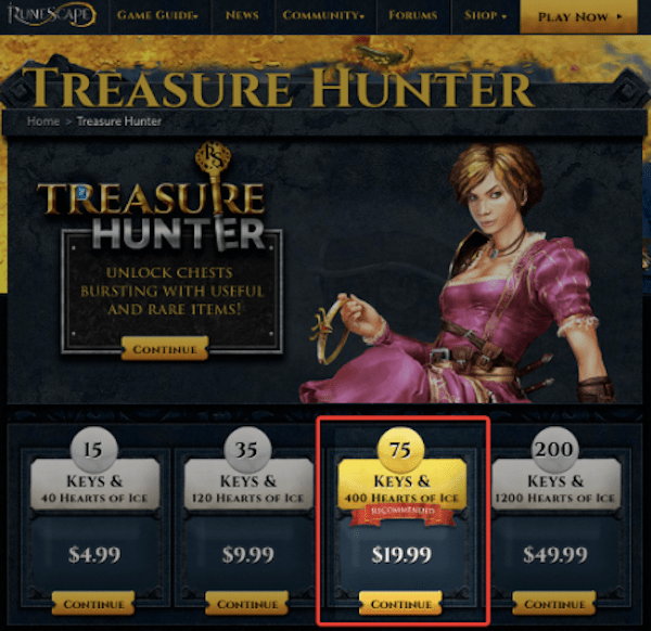 Conversion Rate Optimization - Treasure Hunter Page Updated 2