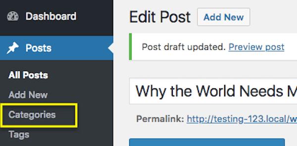 Posts Categories Menu