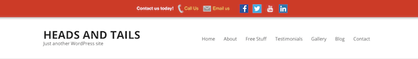 Speed Contact Bar in theheader