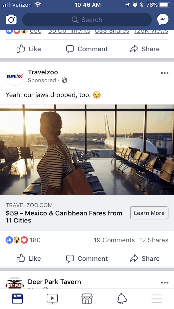 Travelzoo Retargeting