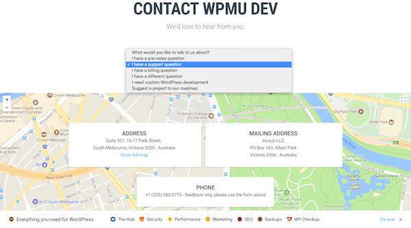 WPMU DEV Contact Form