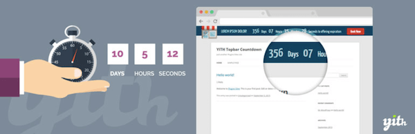 YITH Topbar Countdown plugin 600 600x194 - 18 Plugins To Customize the Header And Footer Of Your Site