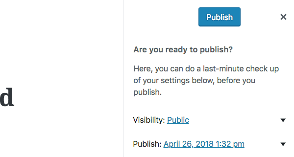 checking you're ready to publish