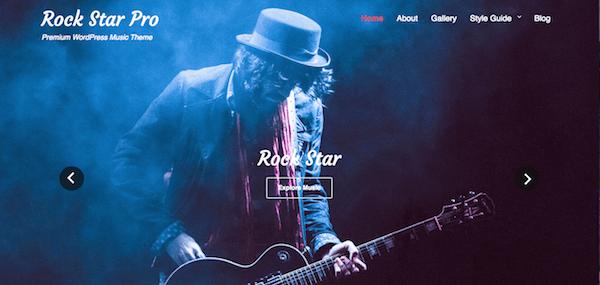 Rock Star WordPress Theme Home Page