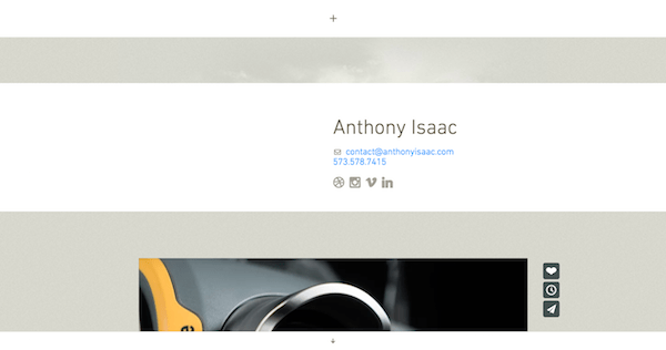 Single Page Websites - Anthony Isaac Contact