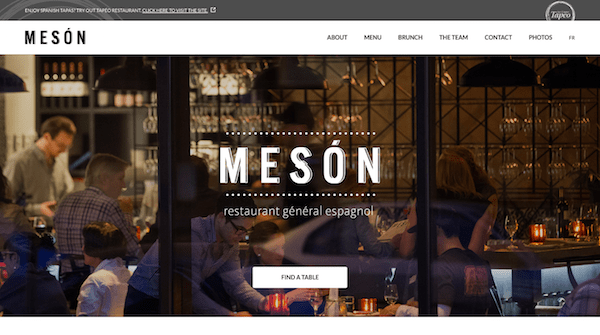 Single Page Websites - Meson Above the Fold