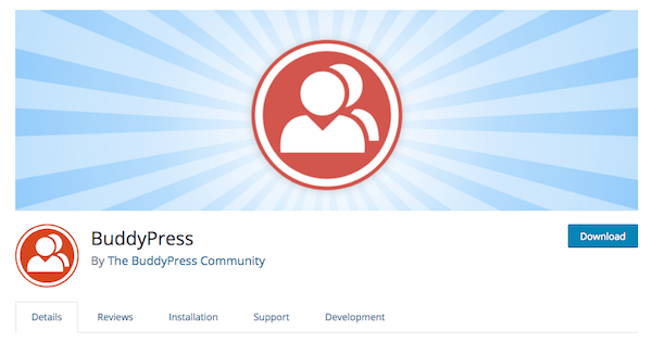 BuddyPress WordPress Plugin's Homepage