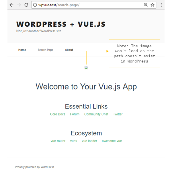 injecting vue in wordpress