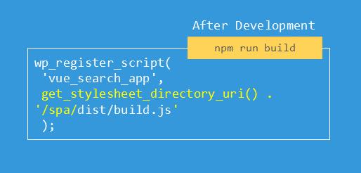 register build after development script