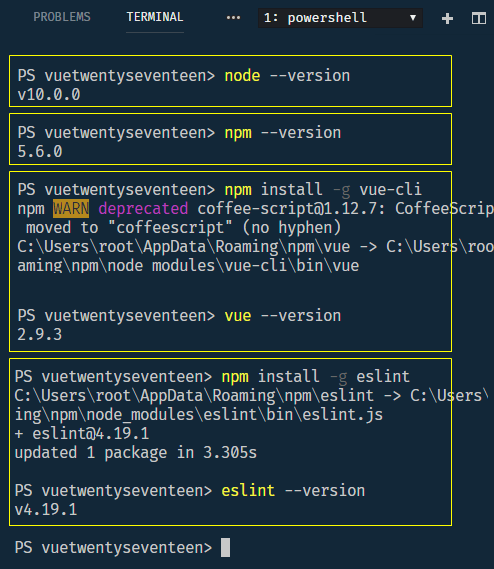 setting up vue cli 2