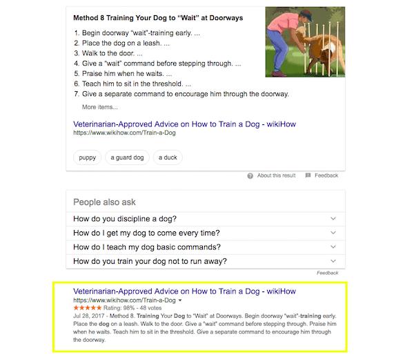 Google Search - dog training