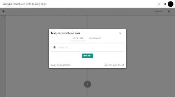 Google Structured Data Testing Tool run test