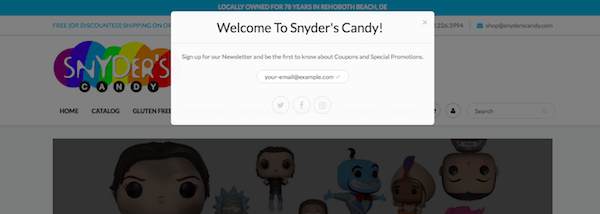 Physical Storefronts - Snyder's Candy Coupons