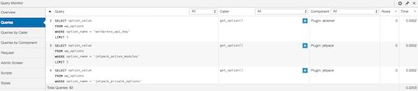 Query Monitor - Check Queries